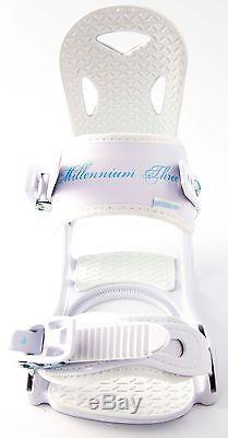 NEW $500 RARE Womens Millenium 3 Krystal Snowboard + M3 Solstice Bindings 150CM