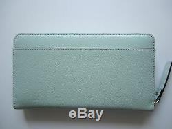 NEW KATE SPADE WELLESLEY NEDA Zip All Around Clutch Wallet Mint Mojito