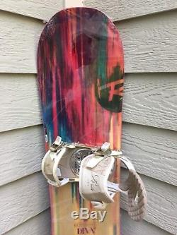 NEW Rossignol Diva 148cm Woman Snowboard withLightly Used Ride VXn Small Bindings