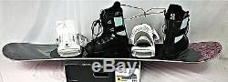 New 145cm, black/pink, Head Snowboard, 540 bindings white, Burton Prog. Boots