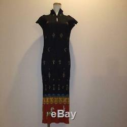 PLEATS PLEASE issey miyake long dress black patterned one size fits all MINT