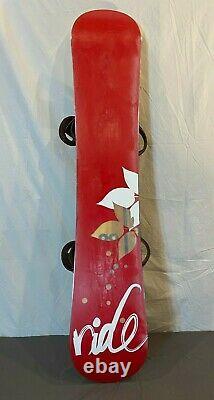 RIDE Solace 150cm Twin-Tip All-Mountain Women's Snowboard withBurton Bindings L