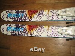 ROXY JIB ALL MOUNTAIN TWIN TIP womens skis 158cm with ROSSIGNOL DIN 3-9 bindings