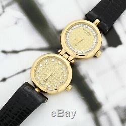 Raymond Weil Watch Dual Time 18K Yellow Gold Plated All Original Mint Warranty