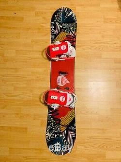 Ride OMG Snowboard 144cm with Union Milan Bindings Burton Salomon Gnu K2 Roxy