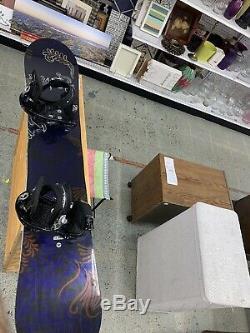 Rossignol Diva Mag 148 cm Women's Snowboard with Burton Stilettos Bindings Nice