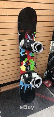 Rossignol Justice Amptek Women's Snowboard 145cm With Flow Haylo Bindings USED