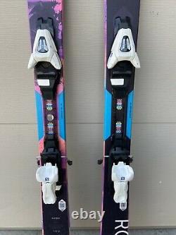 Roxy Shima All-Mountain Skis 140cm With Adjustable Bindings Snow Skis EUC