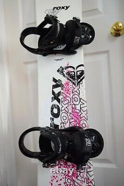 Roxy Snowboard Size 143 CM With Burton Medium Binding