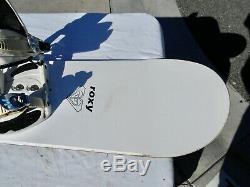 Roxy Women's Snowboard 147cm Roxy Medium Bindings Nice Shape