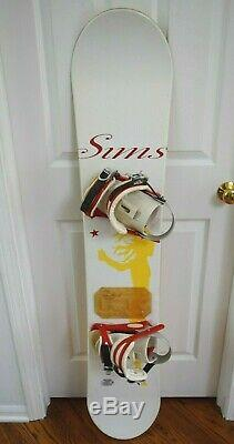 Sims By Tina Basich Snowboard Size 145 CM With Medium Bindings