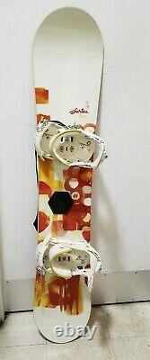 Snowboard (Women's) Burton Feather 144 + Bindings, With Burton Case