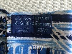 Sulka! Vintage Unisex All Silk Scarf France 1940 None Similar For Sale Mint