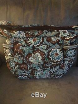Vera Bradley Java Blue Carry All Bag Rare Used But Mint Condition