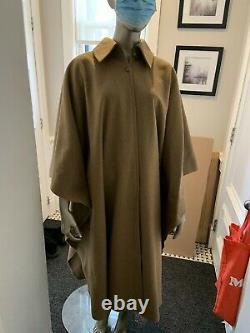 Vintage Mint Yves St Laurent Camel Mohair Wool Cape Wrap Coat One Size fits all