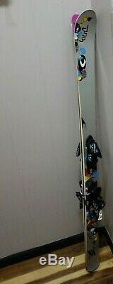 Volkl AURA 163cm Women's All-Mountain Skis with bindings downhill all mountain