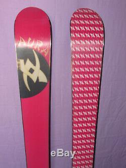 Volkl AURA women's all-mountain powder skis 156cm with Marker FREE 12.0 bindings