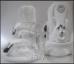 WOMENS 540 LUNA 136CM SNOWBOARD With ALTITUDE BINDINGS (S/M 7-9)+ BURTON STICKER