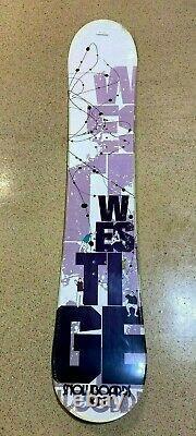 Westige White Purple Party Snowboard Camber Cap 150cm With Burton Sticker