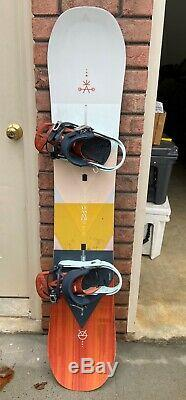 Women's 148 Burton All Mountain Yeasayer Flat Top Snowboard, Excellent Condition