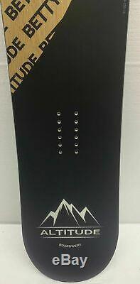 Women's Altitude Boardwerx Betty 140cm All-mountain Snowboard Rocker Rev Camber