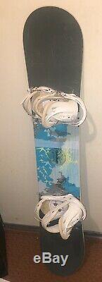 Women's Burton Feather Snowboard 150cm Burton Citizen Bindings Blue/White