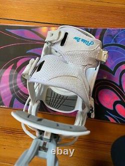 Womens Burton Lux 47 V-Rocker Snowboard with Flow Flite 2W Bindings Size 6.5