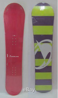 Womens Snowjam Pink Snowboard 158cm & 540 Pr0 Med (6-9) Bindings+burton Sticker